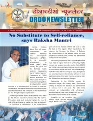 Vol. 33, Issue 4, April 2013 - DRDO
