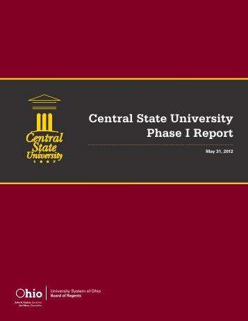 Phase I Report - Ohio Board of Regents