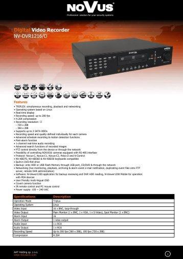 Digital Video Recorder NV-DVR1216/D