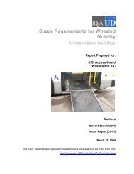 Space Requirements for Wheeled Mobility - University at Buffalo ...