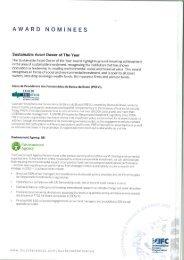 award nominees - SPP