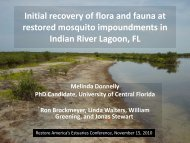 Initial Recovery of Flora and Fauna - Restore America's Estuaries