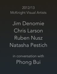 2012/13 McKnight Visual Artists in Conversation with Phong Bui (PDF)
