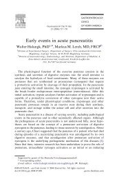 Early events in acute pancreatitis