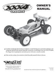 LOSA0015 XXX-4 Manual - Team Losi Racing