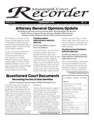 Recorder February 2003 - Texas Municipal Courts Education Center