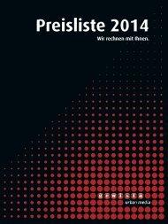 Gewista Preisliste 2014, Einzelseiten, High-Res