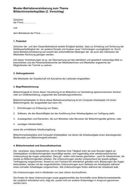 Betriebsvereinbarung Mitarbeiterentwicklungsgesprache