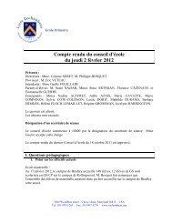 Conseil d'École du 2 février 2012 - Lycée Rochambeau