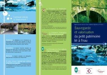 Sauvegarde et valorisation du petit patrimoine lié à l'eau