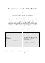 Non-parametric smooth non-linear model identification and ...