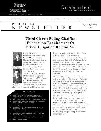 Pro Bono Newsletter (Fall/Winter 2002) 63