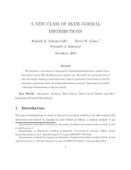 a new class of skew-normal distributions - Pontificia Universidad ...