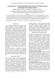 The Fregeneda – Almendra pegmatitic field - Faculdade de Ciências
