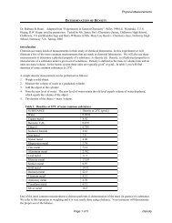 Physical Measurements Page 1 of 5 Density Dr. Barbara B. Bunn ...