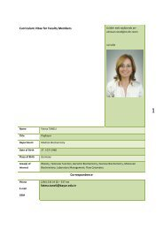Curriculum Vitae for Faculty Members Correspondence