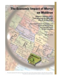 The Economic Impact of Mercy on Waldron