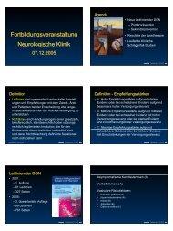 Fortbildungsveranstaltung Neurologische Klinik ...