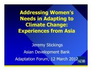 Addressing Women's Needs in Adapting to Climate Change ...
