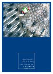 Weisungen zu den Richtlinien lizenznehmeR und ... - Bio Suisse
