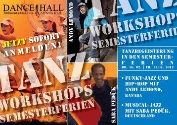 workshops workshops - Dance Hall