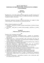 regulamin pracy gminnego centrum kultury, czytelnictwa i sportu w ...
