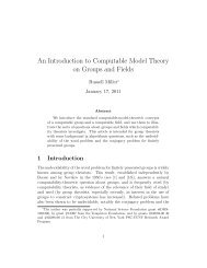 An Introduction to Computable Model Theory on Groups ... - CUNY