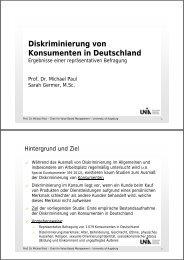 Diskriminierung von Konsumenten in Deutschland - West