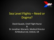 The need for sea level flights for the critically ill: Need or dogma?