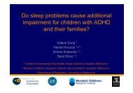 Do sleep problems cause additional impairment for children with ...