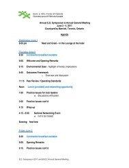 Annual E.D. Symposium & Annual General Meeting June 2 - 4, 2011 ...