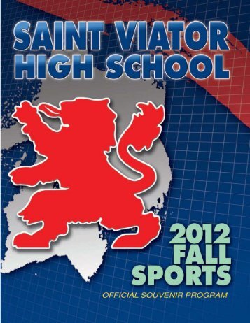2012 Fall Sports Program - Saint Viator High School