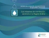 Lecciones para el desarrollo concertado del sector agua - WSP