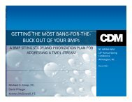 getting the most bang-for-the- buck out of your bmps - NC AWWA-WEA