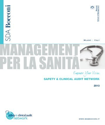 SAFETY & CLINICAL AUDIT NETWORK - SDA Bocconi