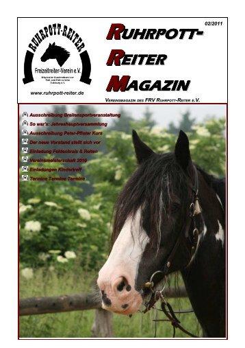 Ausgabe 02/2011 - RUHRPOTT-REITER eV