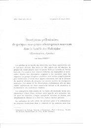 llescriptiorus préliminaines - Laboratoire de Zoologie