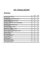 LKV – Prüfung 8. Mai 2010