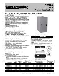 92.1% AFUE, Single Stage, PSC Gas Furnace PS 90 Product ...