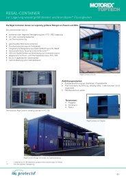 Regal-Container zur Fasslagerung und IBC-Lagerung - Motorex