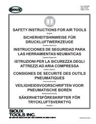 SAFETY INSTRUCTIONS FOR AIR TOOLS ... - Sioux Tools