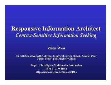 Responsive Information Architect
