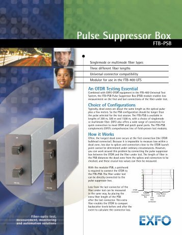 Pulse Suppressor Box FTB-PSB - Rohde & Schwarz