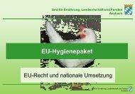 EU-Hygienepaket - Amt für Ernährung, Landwirtschaft und Forsten ...