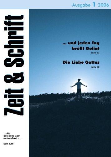 Heft 1/2006 - Zeit & Schrift