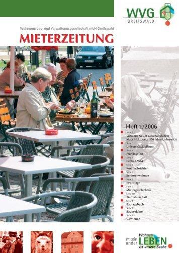 MIETERZEITUNG - WVG mbH Greifswald