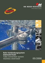 Rohr-Verbindungssystem Tube connection system
