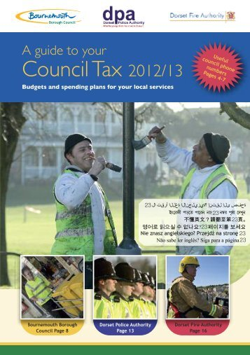 A Guide to your Council Tax 2012-13 - Bournemouth Borough Council