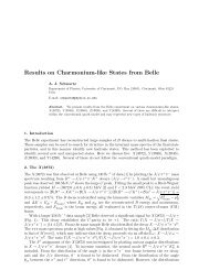 Results on Charmonium-like States from Belle - Physics - University ...