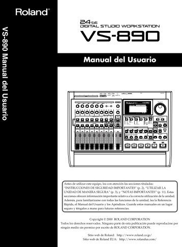 VS-890 Manual del Usuario - Casaveerkamp.net